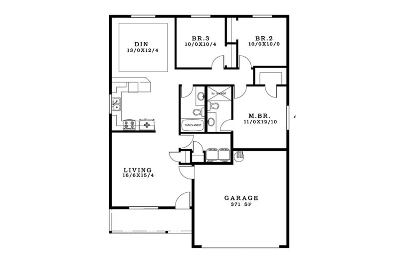 Craftsman Floor Plan - Main Floor Plan Plan #943-47