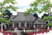 Mediterranean Style House Plan - 3 Beds 2 Baths 1770 Sq/Ft Plan #45-238 Exterior - Front Elevation