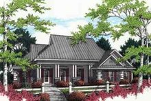 Mediterranean Exterior - Front Elevation Plan #45-238