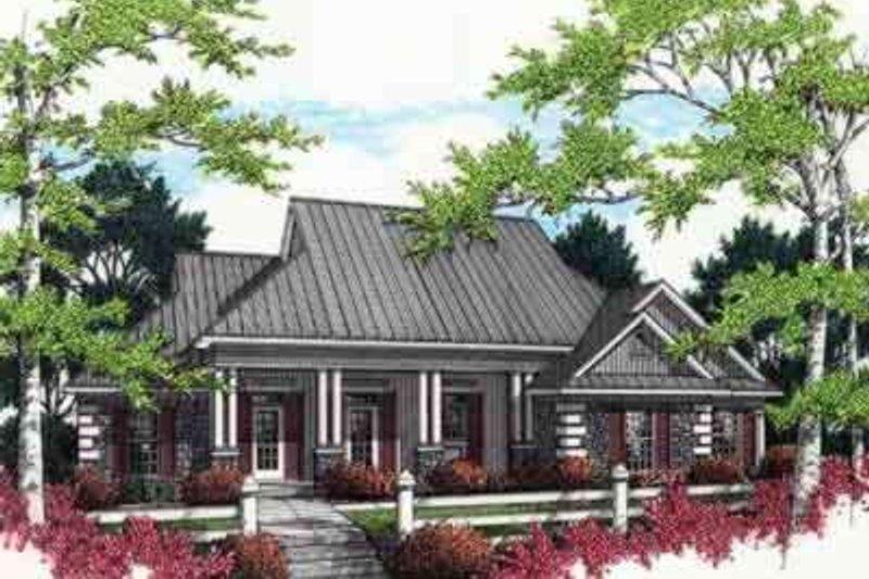 Dream House Plan - Mediterranean Exterior - Front Elevation Plan #45-238