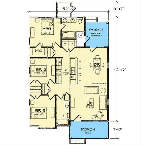 Dream House Plan - Bungalow Floor Plan - Main Floor Plan #936-30