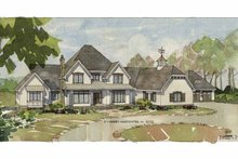 European Exterior - Front Elevation Plan #928-65