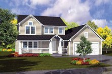 Dream House Plan - Traditional Exterior - Front Elevation Plan #320-988