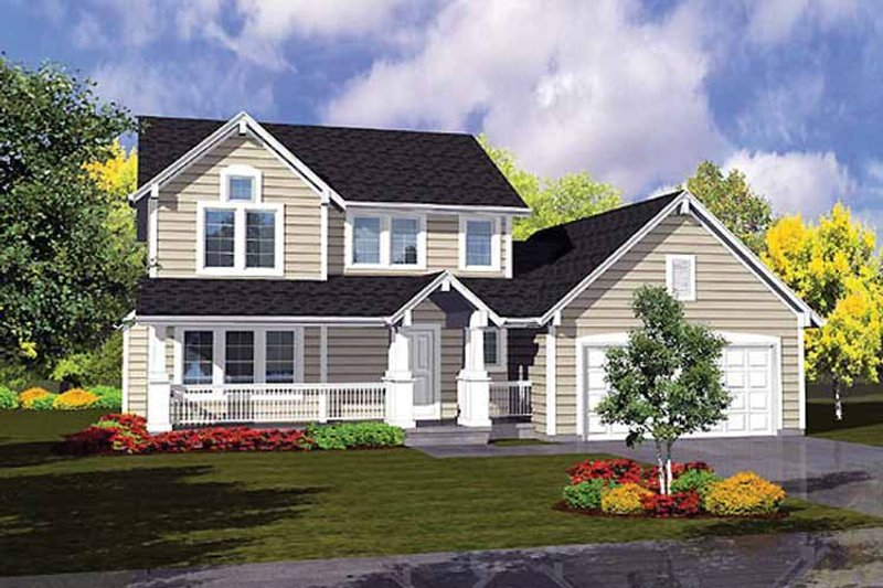 Traditional Exterior - Front Elevation Plan #320-988 - Houseplans.com