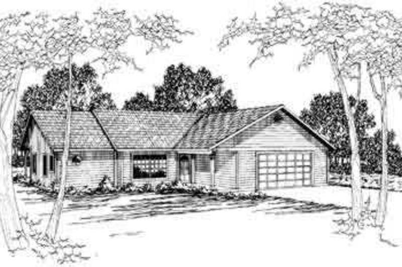 Ranch Exterior - Front Elevation Plan #124-155