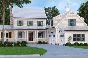 House Blueprint - Farmhouse Exterior - Front Elevation Plan #927-1021