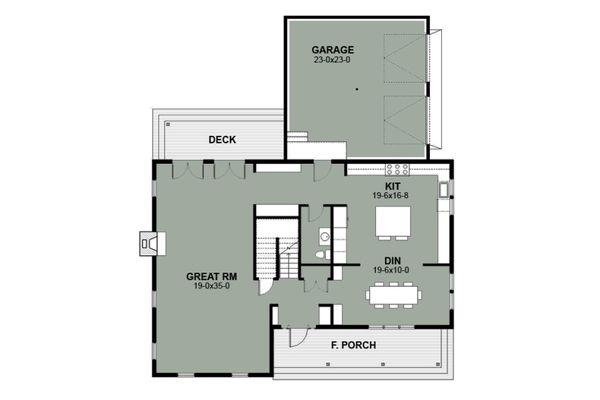 House Plan Design - Farmhouse Floor Plan - Main Floor Plan #497-15