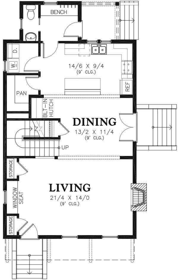 Traditional Floor Plan - Main Floor Plan Plan #48-965