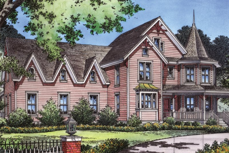 Craftsman Exterior - Front Elevation Plan #417-630