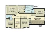 Colonial Style House Plan - 4 Beds 2.5 Baths 2593 Sq/Ft Plan #1010-37 Floor Plan - Upper Floor