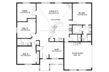 Craftsman Floor Plan - Main Floor Plan Plan #943-45