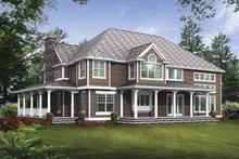 Dream House Plan - Craftsman Exterior - Rear Elevation Plan #132-509