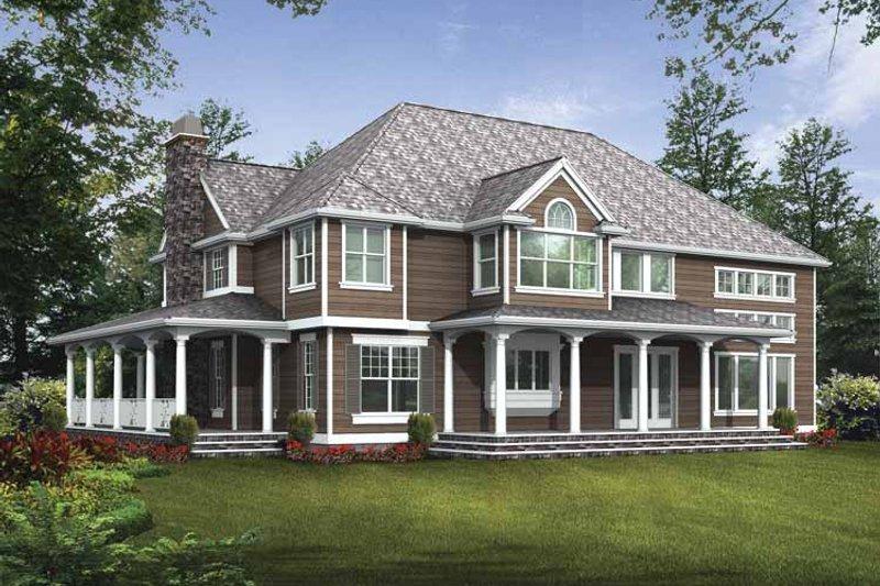 Craftsman Exterior - Rear Elevation Plan #132-509 - Houseplans.com