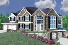 Country Exterior - Front Elevation Plan #509-397