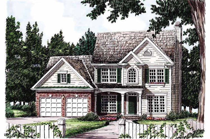 Country Exterior - Front Elevation Plan #927-89