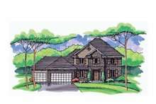 Home Plan - Colonial Exterior - Front Elevation Plan #51-1024