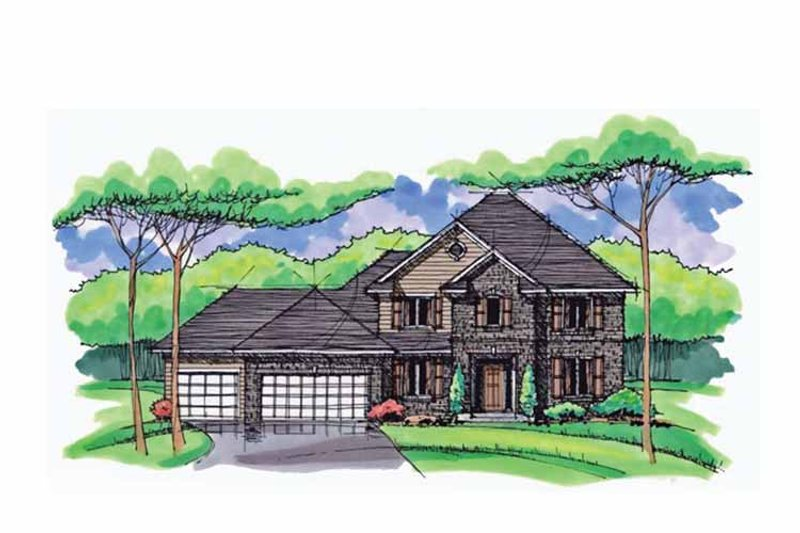 Colonial Exterior - Front Elevation Plan #51-1024 - Houseplans.com