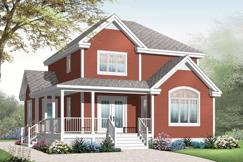 Country Exterior - Front Elevation Plan #23-2551 - Houseplans.com