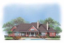 Dream House Plan - European Exterior - Rear Elevation Plan #929-496
