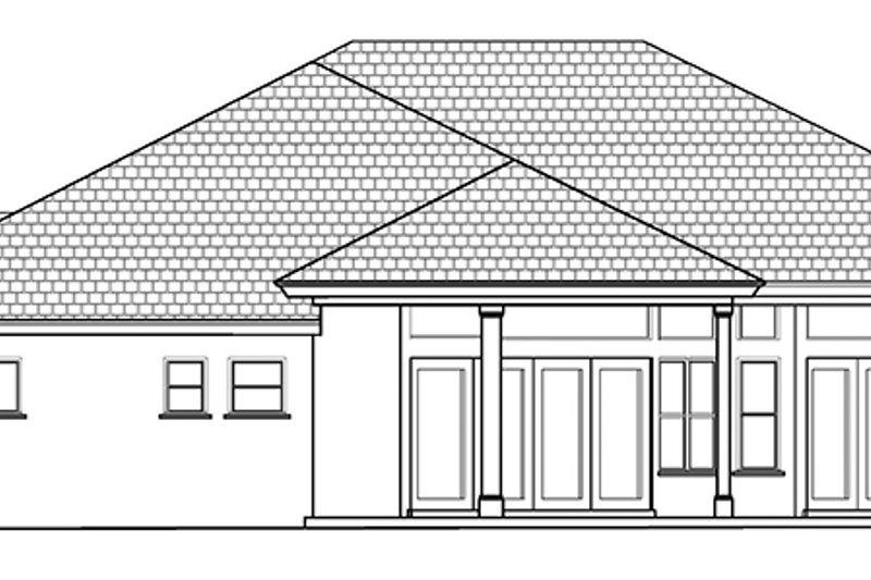 Mediterranean Exterior - Rear Elevation Plan #1017-122 - Houseplans.com