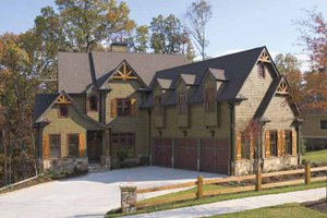 Dream House Plan - European Exterior - Front Elevation Plan #54-286
