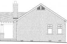 Architectural House Design - Craftsman Exterior - Rear Elevation Plan #137-359