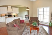 European Style House Plan - 3 Beds 2 Baths 1952 Sq/Ft Plan #430-72 Interior - Family Room