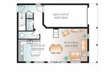 Colonial Floor Plan - Main Floor Plan Plan #23-2487
