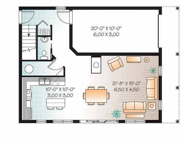 Colonial Floor Plan - Main Floor Plan Plan #23-2487