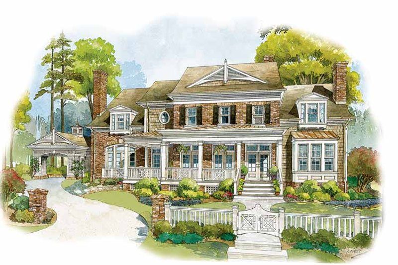 Home Plan - Colonial Exterior - Front Elevation Plan #429-327