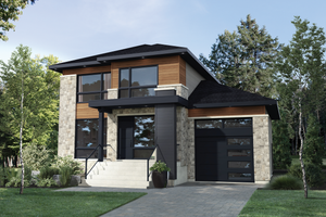 Dream House Plan - Contemporary Exterior - Front Elevation Plan #25-4875