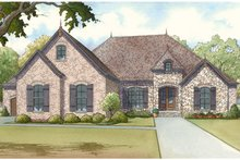 House Plan Design - European Exterior - Front Elevation Plan #17-3369