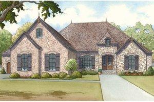 House Blueprint - European Exterior - Front Elevation Plan #17-3369