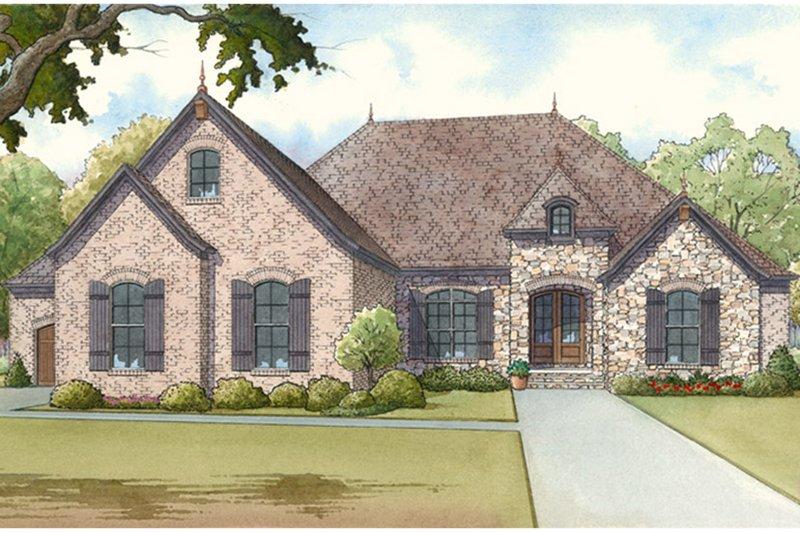 House Plan Design - European Exterior - Front Elevation Plan #17-3369