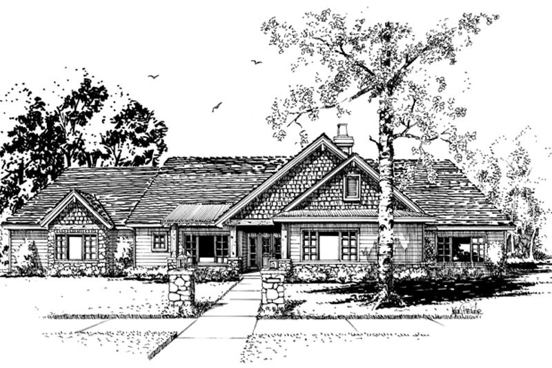 Ranch Exterior - Front Elevation Plan #942-15 - Houseplans.com