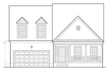 House Plan Design - Colonial Exterior - Front Elevation Plan #1053-72