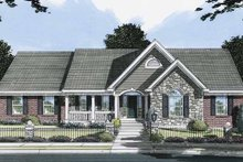 Colonial Exterior - Front Elevation Plan #46-796