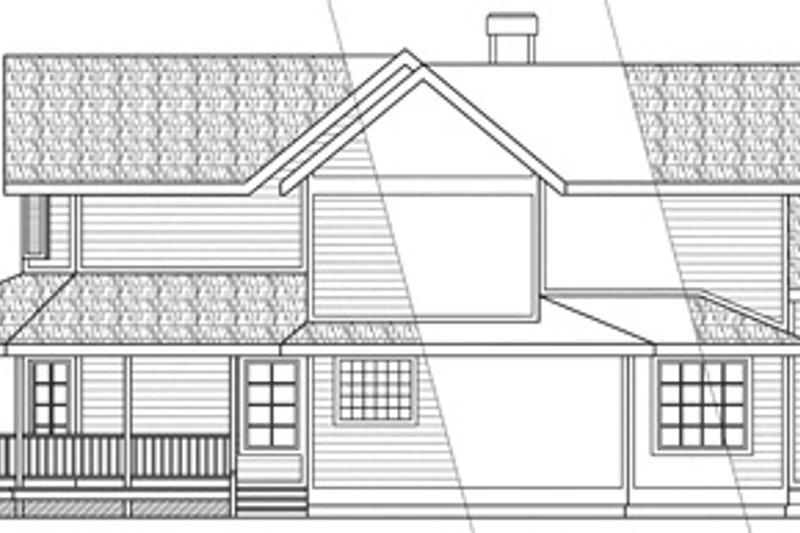 Farmhouse Exterior - Other Elevation Plan #124-125 - Houseplans.com