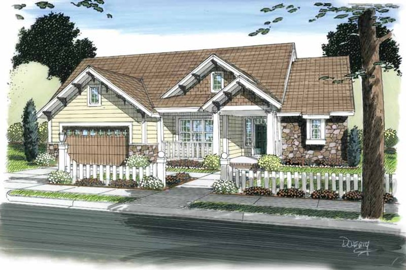 Craftsman Exterior - Front Elevation Plan #513-2104