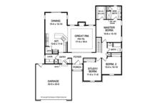Ranch Floor Plan - Main Floor Plan Plan #1010-138