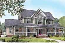 Architectural House Design - Victorian Exterior - Front Elevation Plan #11-265