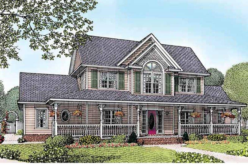 House Plan Design - Victorian Exterior - Front Elevation Plan #11-265