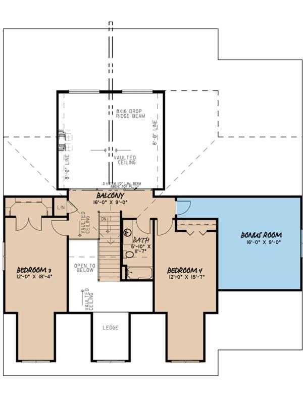 Home Plan - Craftsman Floor Plan - Upper Floor Plan #923-113