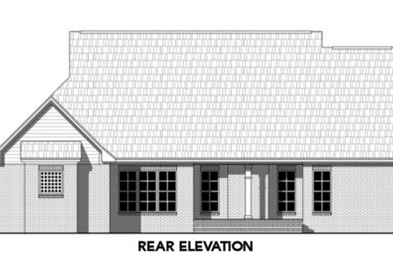 Country Exterior - Rear Elevation Plan #21-315 - Houseplans.com