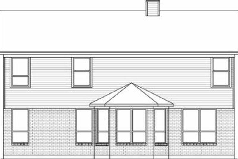 Traditional Exterior - Rear Elevation Plan #84-136 - Houseplans.com
