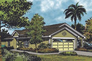 Home Plan - Mediterranean Exterior - Front Elevation Plan #417-676
