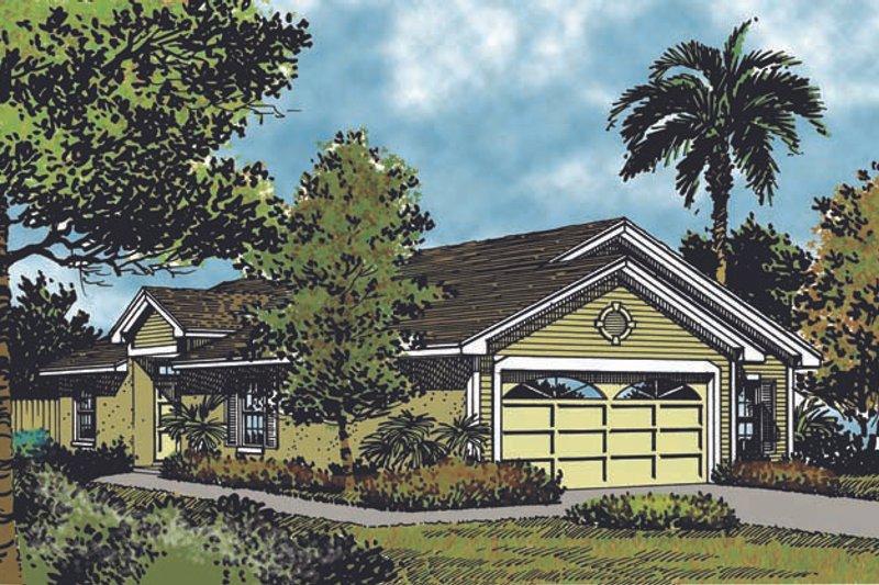 Dream House Plan - Mediterranean Exterior - Front Elevation Plan #417-676