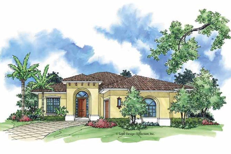 Mediterranean Exterior - Front Elevation Plan #930-391