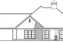 House Plan Design - Country Exterior - Rear Elevation Plan #17-3375