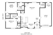Craftsman Style House Plan - 2 Beds 2 Baths 1228 Sq/Ft Plan #932-26 Floor Plan - Main Floor Plan